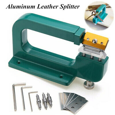 Aluminum Leather Splitter Edge Skiving Tool Leather Craft Device Paring Cutter
