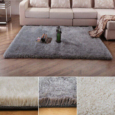 SHAGGY RUG 5.5cm HIGH PILE SMALL LARGE THICK SOFT LIVING ROOM FLOOR BEDROOM MAT