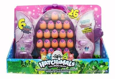 Hatchimals 26 Colleggtibles Set W/ Purple Glittery Collector Case 612 *New