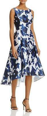 Adrianna Papell 299$ Womens Floral Print Hi-Lo Cocktail Dress US 10