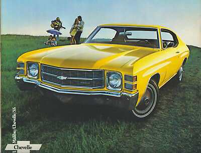1971 Chevrolet Chevelle SS Sport Coupe Convertible Maiibu Dealer Sales Brochure