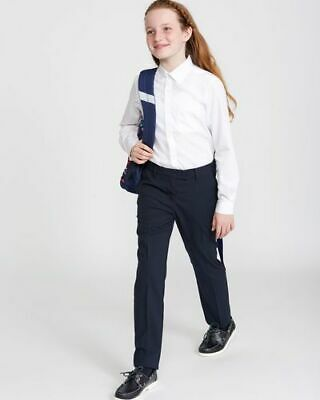 NEW GIRLS EX DUNNES NAVY BLUE STRETCH SCHOOL TROUSERS AGE 5 - 16 yrs SKINNY GNT4