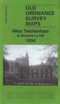 Old Ordnance Survey Map West Twickenham & Strawberry Hill 1934
