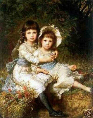 LMOP808 cute long hair little girl 100/% painted hand art oil painting on canvas