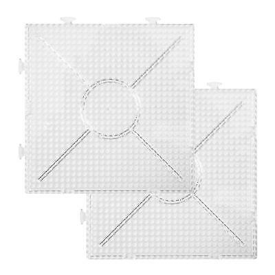2 Pegboards 15 x 15 cm Large for Nabbi Photo Pearls Perler Beads 75532