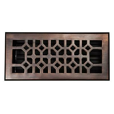 The Copper Factory Solid Cast Copper Decorative 4in.X 10in. Floor Register Wi...
