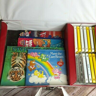 Vintage 70's 80's 90's Read Along Books Cassette Tapes Carrying Case Plus Xtras
