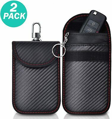 Mini Faraday Bag Car Key Signal Blocker Case 2 PACK Keyless Entry Fob Pouch