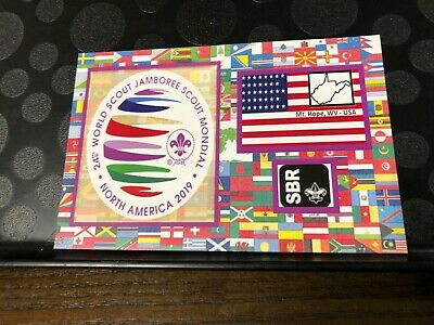 2019 24th WORLD JAMBOREE SUMMIT NORTH AMERICAN SBR POST CARD WITHOUT STAMP