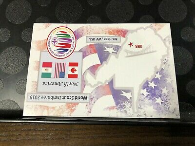 2019 24th WORLD JAMBOREE SUMMIT NORTH AMERICAN POST CARD WITHOUT STAMP