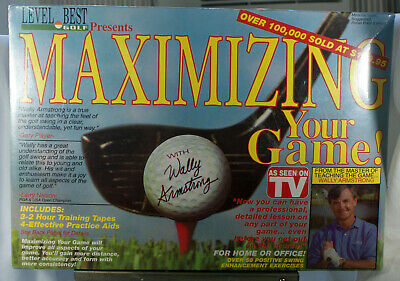 Wally Armstrong Maximizing Your Game Golf Training Aids with VHS Tapes New