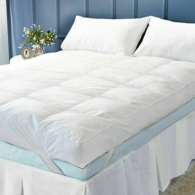 "New 4"" Inch Deep Luxury Soft Hotel Quality Microfiber Mattress Topper All Sizes"