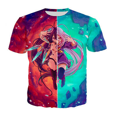 3D Print Cool Anime No Game No Life Women Men Casual TShirt Short Sleeve Tee Top