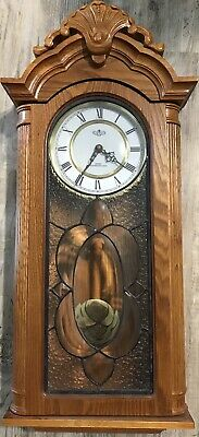BOSTON CLOCK Oak Reg Quartz Clock Glass Westminster the clock just stop work