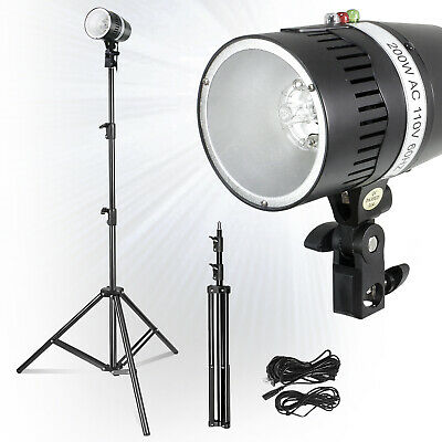 Photography Studio 2X160W Lighting Kit Strobe Photo Flash Light Stand Holder
