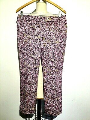 The Limited Womens Capri Pants Multi-Color Size 6 Floral Drew Fit Stretch Cuffed