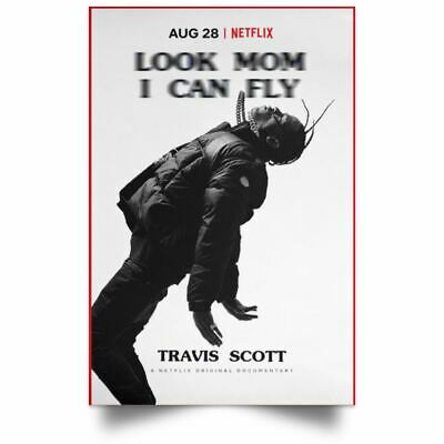 Travis Scott Look Mom I Can Fly Poster Movie Art Film Print High Quality 24x36
