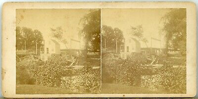 Boston MA vicinity: Small Building on Stream; by Horace Partridge CL446