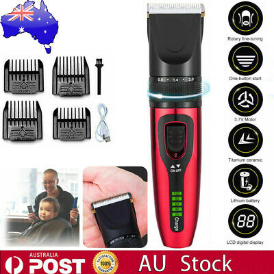 3.7V Electric Hair Clippers Beard Trimmer Mens Boys Haircut Clipper Grooming Kit
