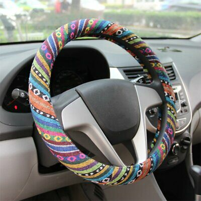 38mm Car Steering Wheel Cover Wrap Protector Colorful Anti Slip Strip Universal