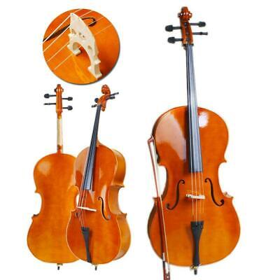 Students High Quality 1/2 Size BassWood Cello+Bag+Bow+Bridge+Rosin UK
