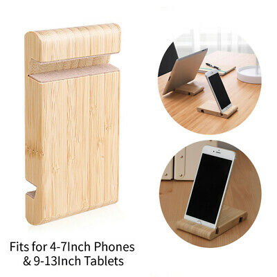 Universal Wooden Mobile Phone/Tablet Desk Stand Holder For Samsung iPhone Htc