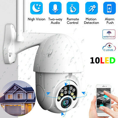 1080P HD IP66 CCTV Camera Waterproof Outdoor WiFi PTZ Security Wireless IR Cam#