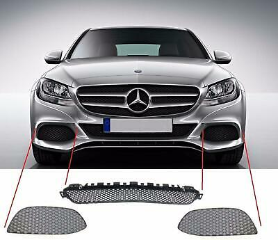 Genuine Mercedes Benz Mb C W205 Avantgarde Front Bumper Lower Grill Set