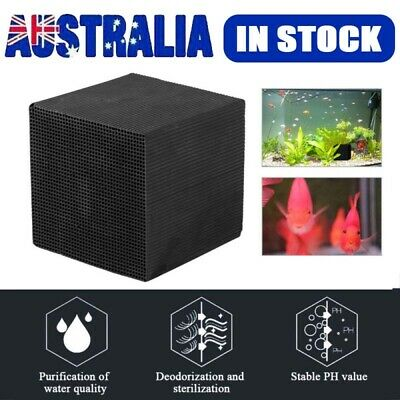 Square Eco-Aquarium Water Purifier Filter Cube Fish Tank Cleaning Activated sc
