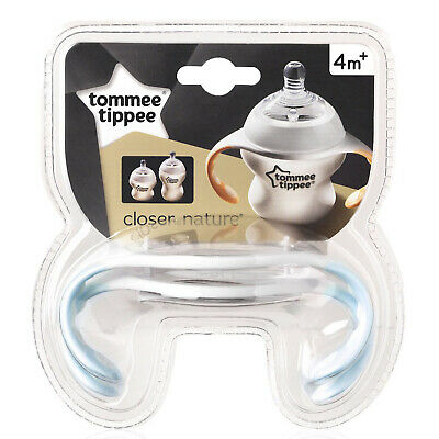 ​Tommee Tippee Closer to Nature Manijas de Botella con Fácil Agarre 4 Meses +