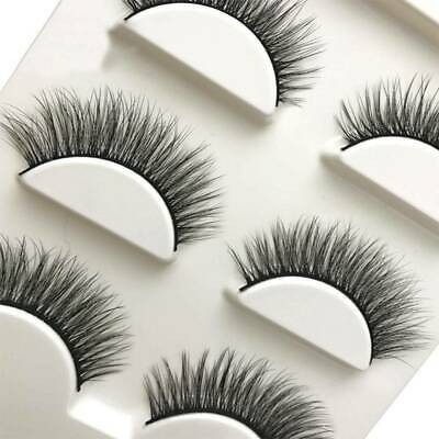3 Pairs 3D Mink Handmade Fake Eyelashes Natural Long Wispy Makeup False Lashes