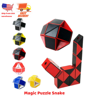 NEW MAGIC SNAKE Shape Toy Game 3D Cube Twist Puzzle