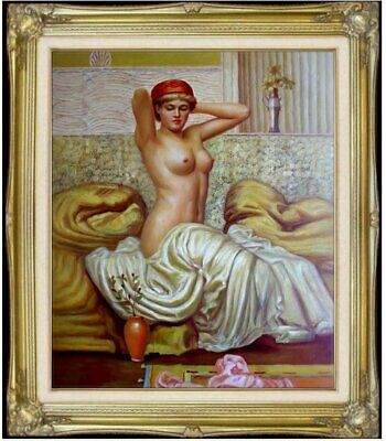 Framed Quality Hand Painted Oil Painting Repro Albert Moore The Toilette 20x24in