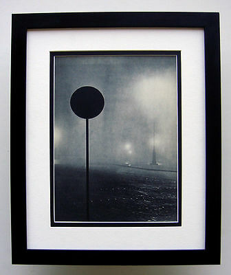 "Attractive 1930s BRASSAI Antique Photogravure ""Late Night and Fog"" FRAMED COA"