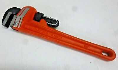 "NEW!! PROTO J810HD 10"" Straight Pipe Wrench, Steel, 1-1/2"" Jaw"