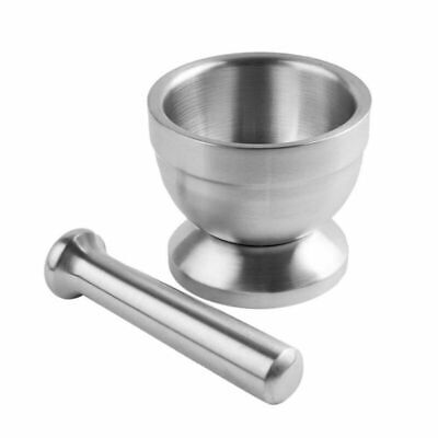 Stainless Steel Mortar and Pestle Kit Spice Grinder Molcajete Crushing Grinding