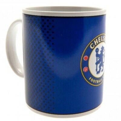 Chelsea Football Club Crest Blue & White Ceramic Mug FD with Free UK P&P