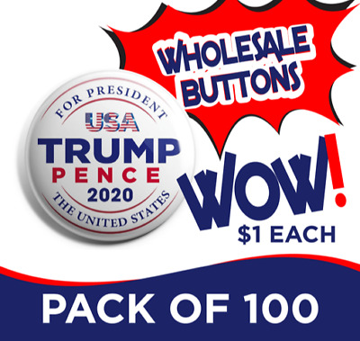 Donald Trump Wholesale Button Set of 100 (TRUMP-100PACK-001)