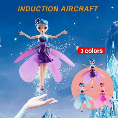 Cute Flying Fairy Magic Infrared Induction Princess Doll For Girls Birthday