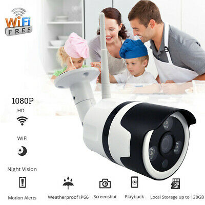 Wireless HD720P/1080P WIFI Camera Waterproof Security Bullet IR Night Vision US