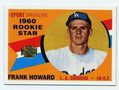 1960 Topps FRANK HOWARD Rookie Card RC #132 LA Dodgers - 2001 Archives REPRINT