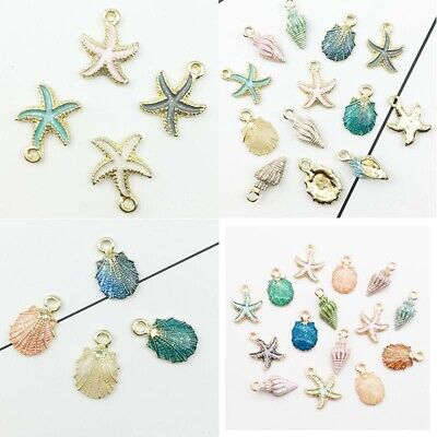DIY Sea  Making  Accessories  Jewelry  Charms  Pendant Mixed  13 Pcs/set  Conch