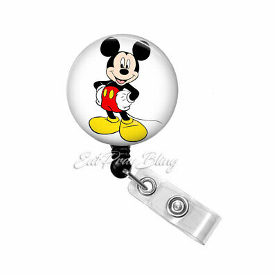 Disney Minnie Pluto And Mickey Mouse Retractable Badge Name Tag ID Holder 3D