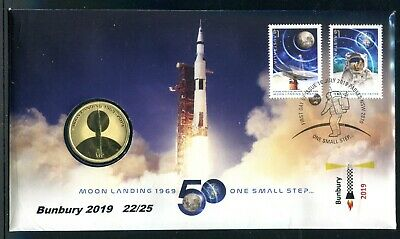 2019 The Moon Landing 50 Years On FDC/PNC - Bunbury AFP 22/25 SOLD OUT