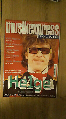 Musikexpress Nr.12/1995 Keith Richards,David Bowie,Foo Fighters,Queen,Helge S.