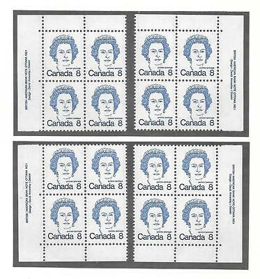 pk45866:Stamps-Canada #593 Queen Elizabeth 8 ct PL1 Set of Plate Blocks-MNH