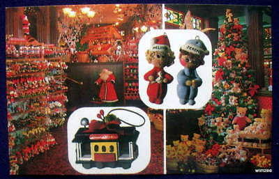 SAN FRANCISCO CALIFORNIA Santa Claus Christmas Store VINTAGE POSTCARD
