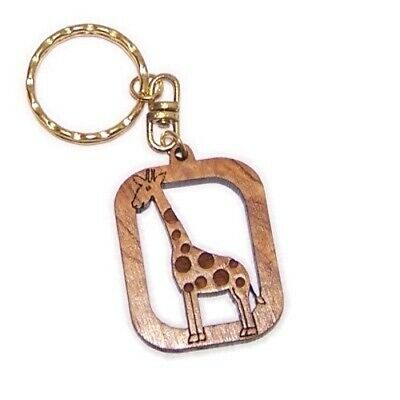 6cm cm or 2.5 Dolphin Olive wood Keys Chain