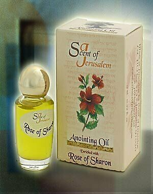 Scent of Jerusalem Anointing Oil Enriched with Rose of Sharon 0.32 fl.oz. Made
