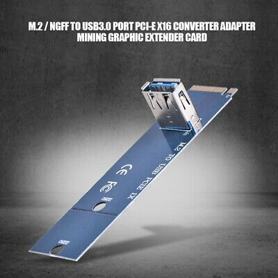 M.2 / NGFF to USB3.0 PCI-E X16 Extender Riser Card Adapter Graphic Extender Card